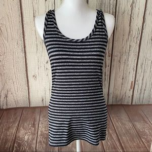 Buckle BKE racer back striped top size large